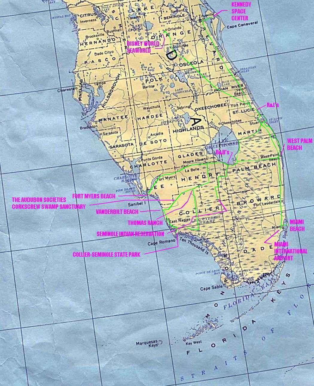 florida map latitude