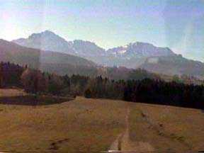 First Views of The Alps on the way to Salzburg
